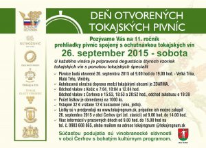 Day of open tokaj wine cellars 2015