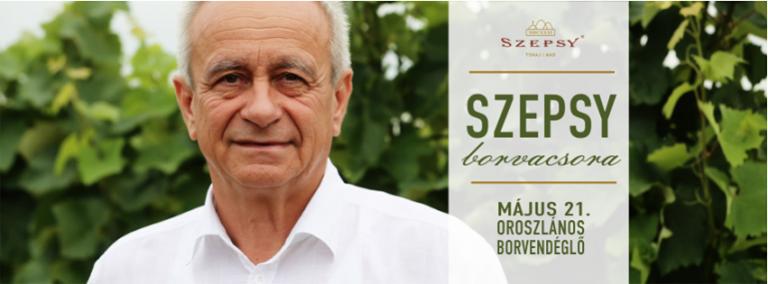 Flyer - Szepsy borvacsora az Oroszlánosban