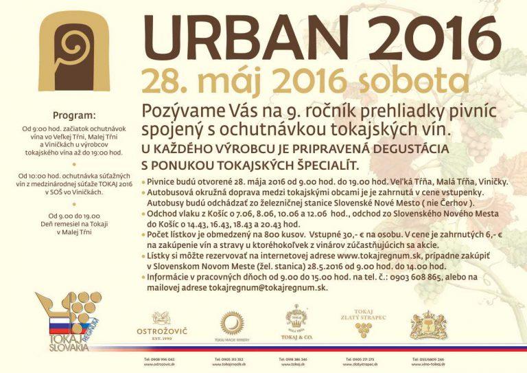 Flyer - Urban 2016 – Požehnanie mladého vína