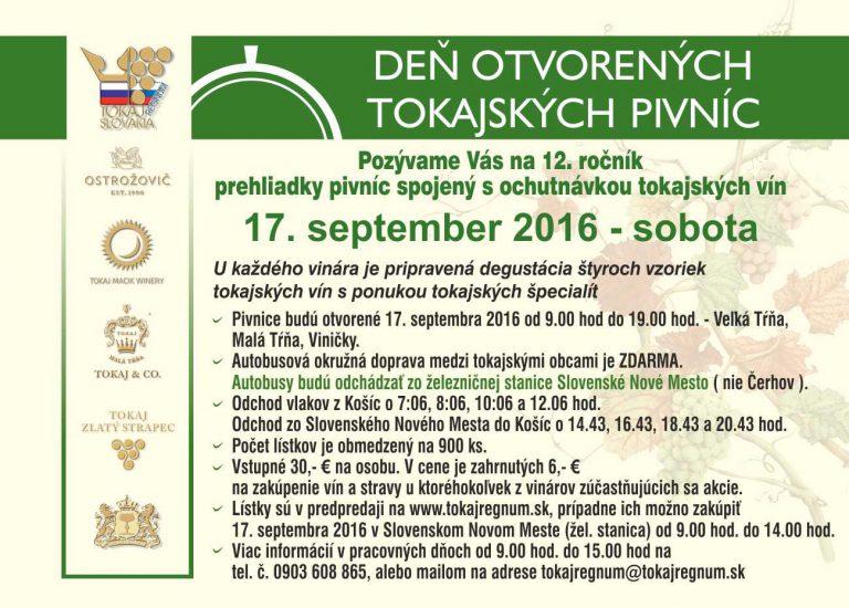 Flyer - Deň otvorených tokajských pivníc 2016