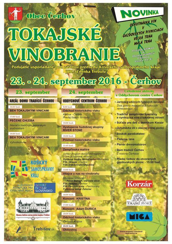 Flyer - Tokajské vinobranie Čerhov 2016