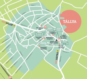 Kerekdomb festival map