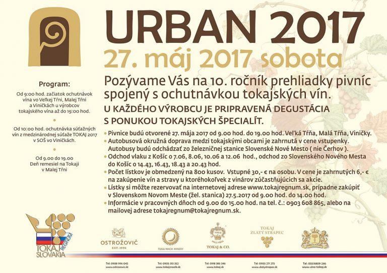 Flyer - Urban 2017 – Požehnanie mladého vína