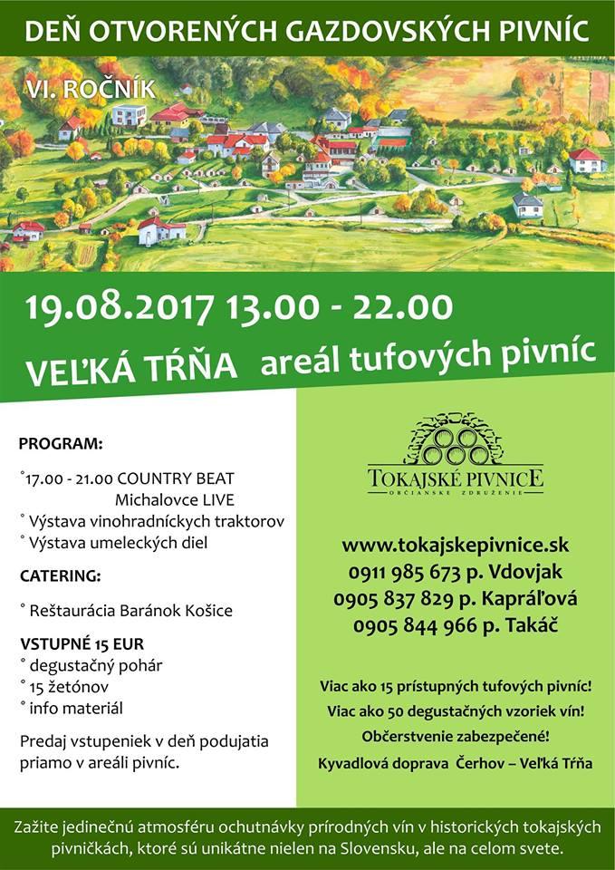 Flyer - DEŇ OTVORENÝCH GAZDOVSKÝCH PIVNÍC 2017