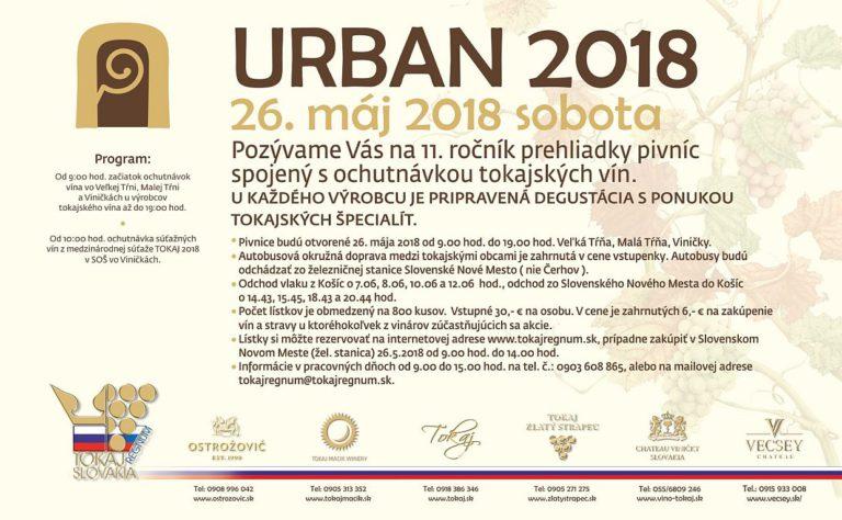 Flyer - URBAN 2018 – POŽEHNANIE MLADÉHO VÍNA